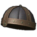 Dated Leather Pot Helm (Black)