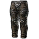 Dated Tarred Leather Trousers (Brown)