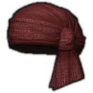 Dated Velveteen Turban (Red)