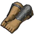 Fingerless Boarskin Gloves of Toiling