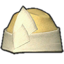 Velveteen Wedge Cap of Gathering (Yellow)